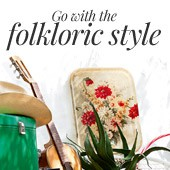 Go with the folkloric style this season