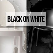 Black on white