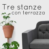 Tre stanze con terrazza : un solo stile, il vostro !