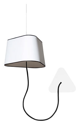 applique petit nuage l 24 cm fixation au plafond tissu blanc avec bordure noire designheure. Black Bedroom Furniture Sets. Home Design Ideas