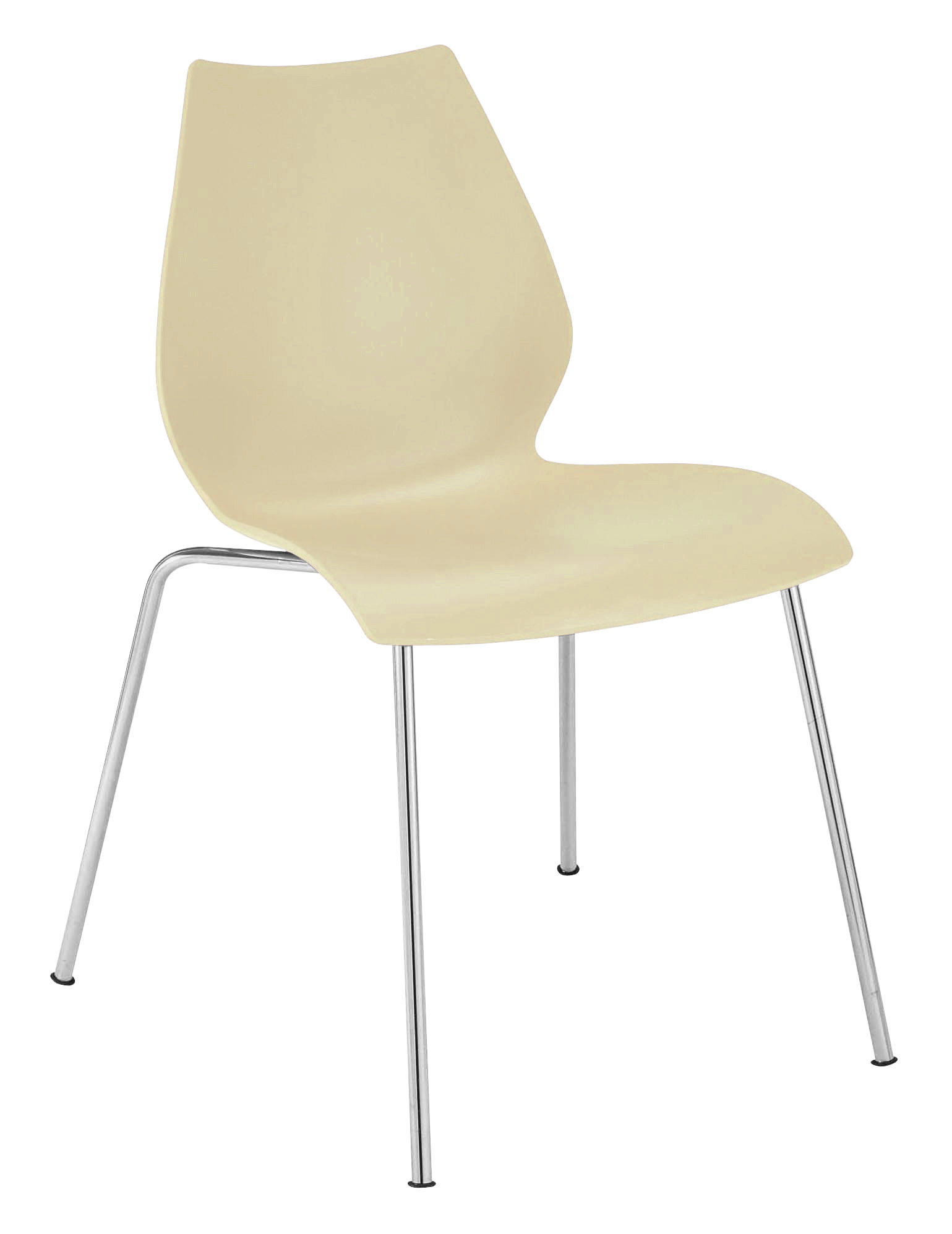 maui stackable chair plastic seat metal legs yellow