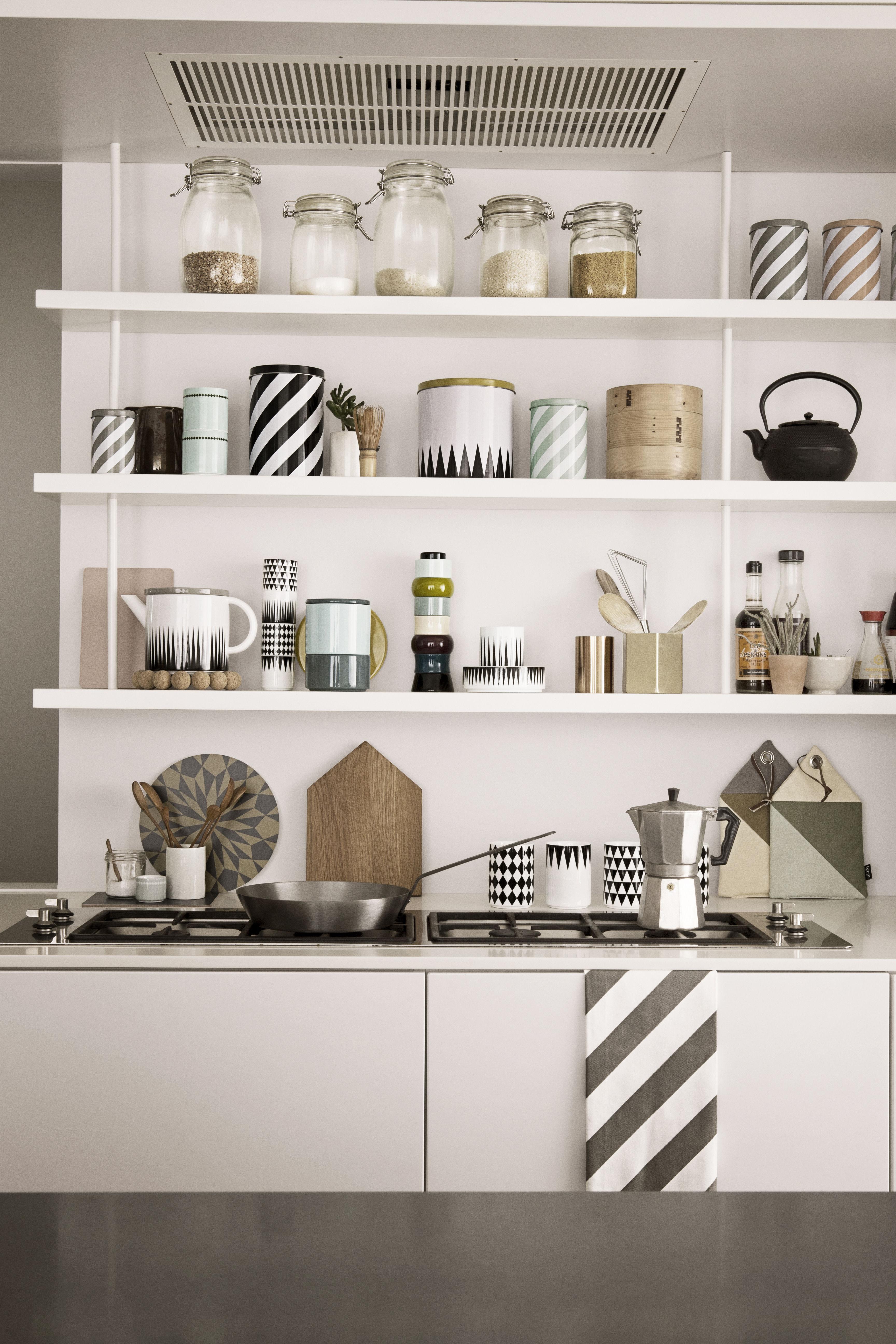 Théière Geometry Noir & blanc  Ferm Living