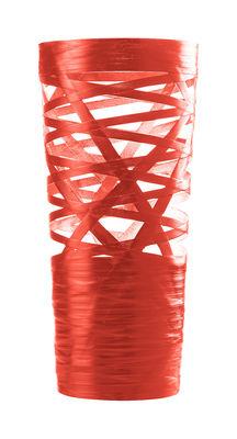 Lampe de table Tress Mini / H 43 cm - Foscarini Rouge en Matière plastique