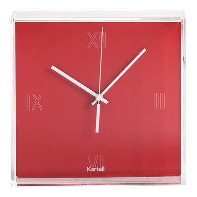 Tic tac wall clock oranged red by kartell for Decoration kartell