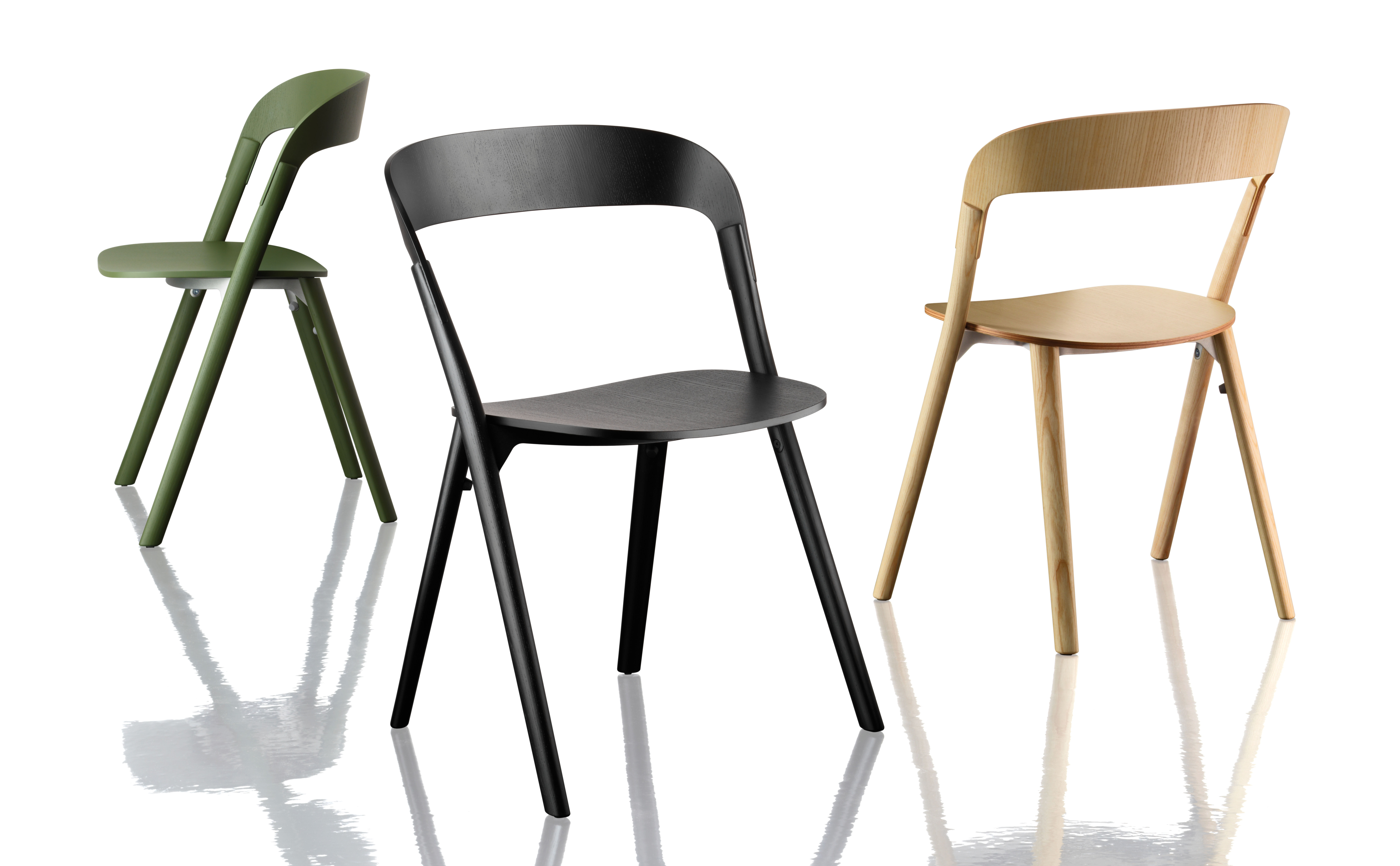pila stackable chair wood black by magis. Black Bedroom Furniture Sets. Home Design Ideas