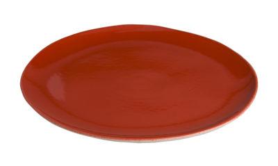 Image du produit Assiette à dessert Bazelaire Ø 19cm- Faïence émaillée - Sentou Edition Rouge en Céramique