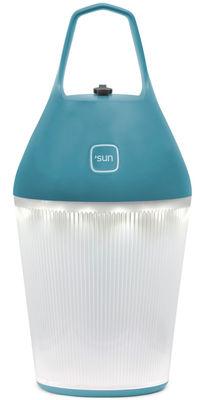 Foto Lampada senza fili Nomad /Ricarica tramite elettricità di O'Sun - Blu - Materiale plastico Lampe sans fil
