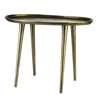 Foto Tavolino Oval / Fatto a mano - Ottone invecchiato - 53 x 37 cm - Pols Potten - Laiton vieilli - Metallo Tavolino d'appoggio