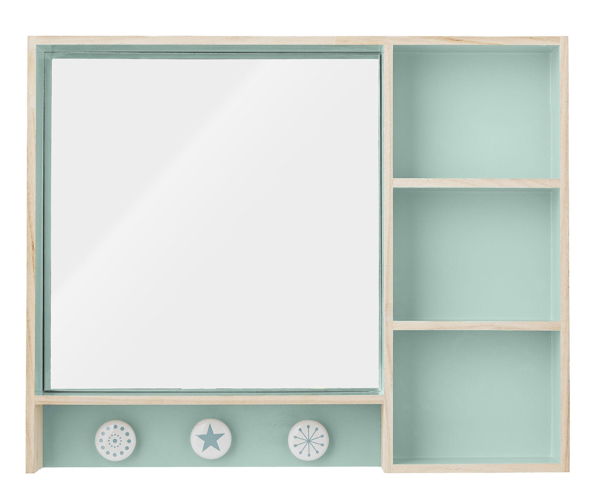 make up l 50 cm x h 40 cm mit integriertem spiegel und garderobenhaken bloomingville regal. Black Bedroom Furniture Sets. Home Design Ideas