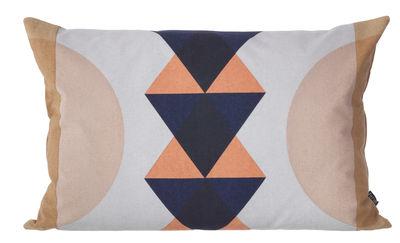 Foto Cuscino Totem - / 60 x 40 cm di Ferm Living - Corallo - Tessuto