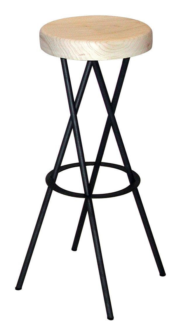 tabouret de bar twist bois clair acier zeus. Black Bedroom Furniture Sets. Home Design Ideas