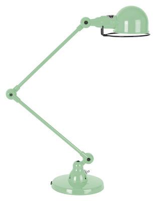 Foto Lampada da tavolo Signal - 2 bracci articolati - H max 60 cm di Jieldé - Verde acqua brillante - Metallo