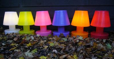 lampe sans fil rechargeable h 28 cm blanc bloom. Black Bedroom Furniture Sets. Home Design Ideas