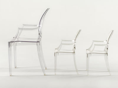 fauteuil enfant lou lou ghost cristal kartell. Black Bedroom Furniture Sets. Home Design Ideas