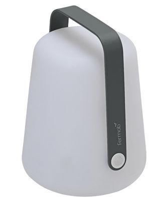 Lampe sans fil Balad LED / H 25 cm - Recharge USB - Fermob Gris orage en Métal