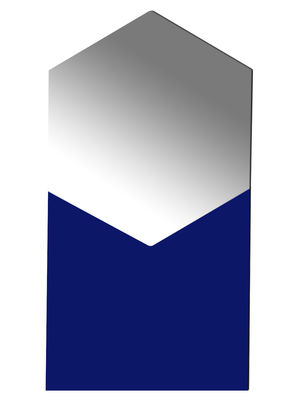 Foto Specchio Shape - Esagonale / Small - L 50 x H 93 cm di Hay - Blu d'acqua - Vetro