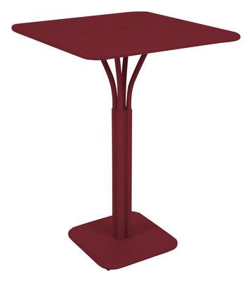 Foto Tavolo bar alto Luxembourg - 80 x 80 x A 105 cm di Fermob - Pepper - Metallo