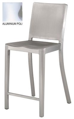 Foto Sedia da bar Hudson stool - h 61 cm di Emeco - Alluminio lucido - Metallo