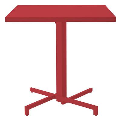 Foto Tavolo pieghevole Mia - 75 x 75 cm - Pieghevole di Emu - Rosso - Metallo