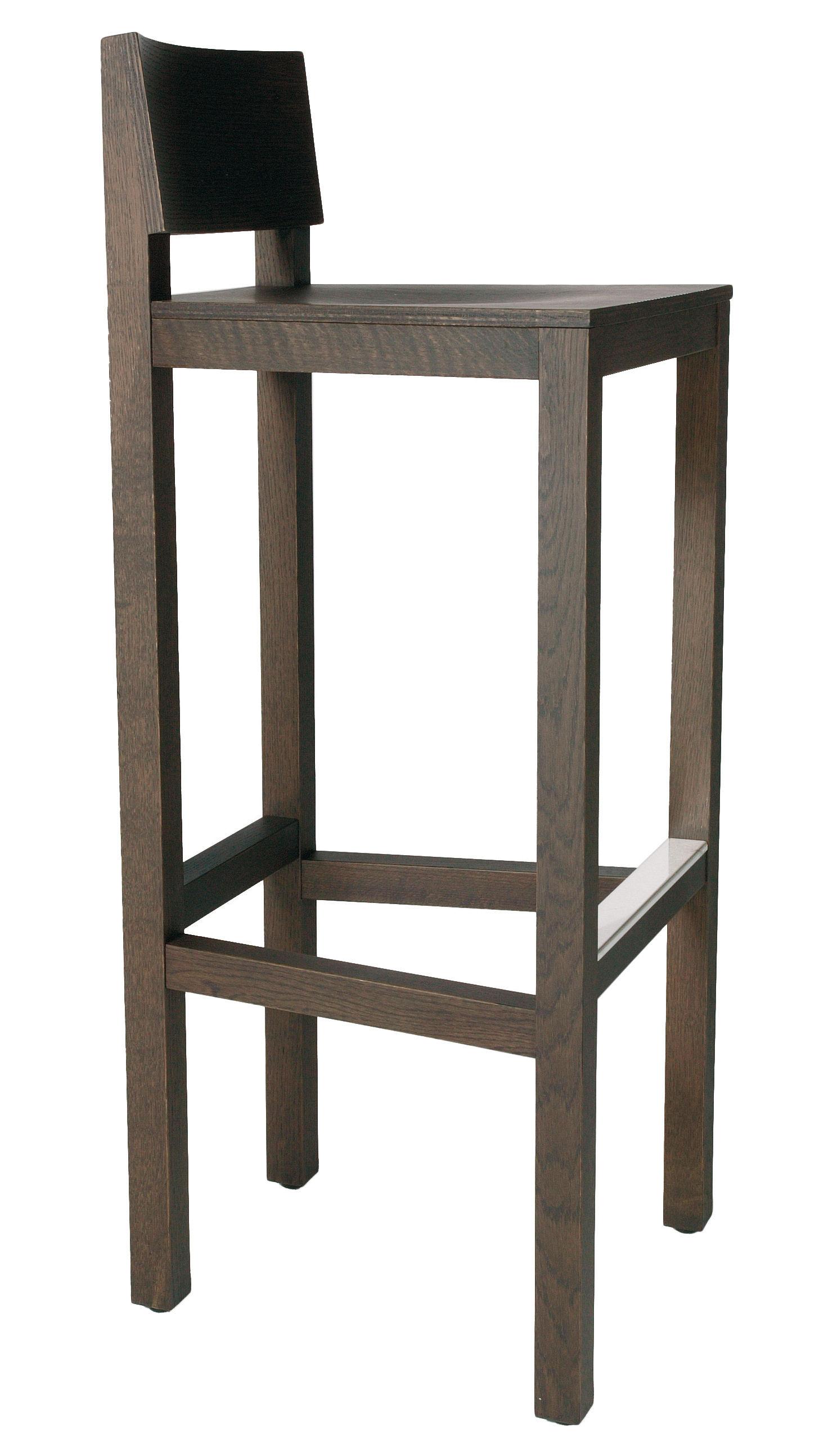 tabouret de bar avl h 80 cm bois weng moooi. Black Bedroom Furniture Sets. Home Design Ideas