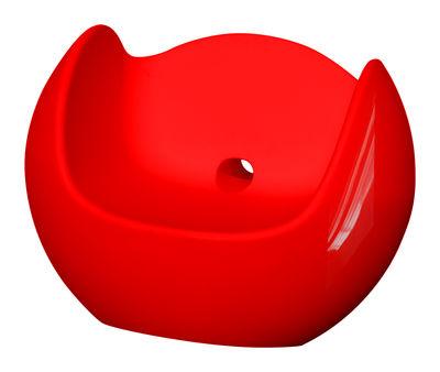 Foto Rocking chair Blos - versione laccata di Slide - Laccato rosso - Materiale plastico