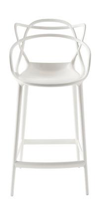 Foto Sedia da bar Masters - / H 65 cm di Kartell - Bianco - Materiale plastico