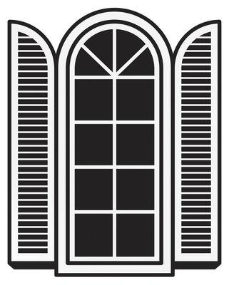 Foto Sticker Open a window di Domestic - Nero - Materiale plastico