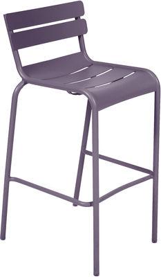Foto Sgabello alto Luxembourg / seduta H 80 cm - Prugna - Metallo Fermob Sedia da bar