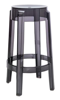 Foto Sgabello bar Charles Ghost - h 65 cm di Kartell - Fumé - Materiale plastico Sgabello alto impilabile