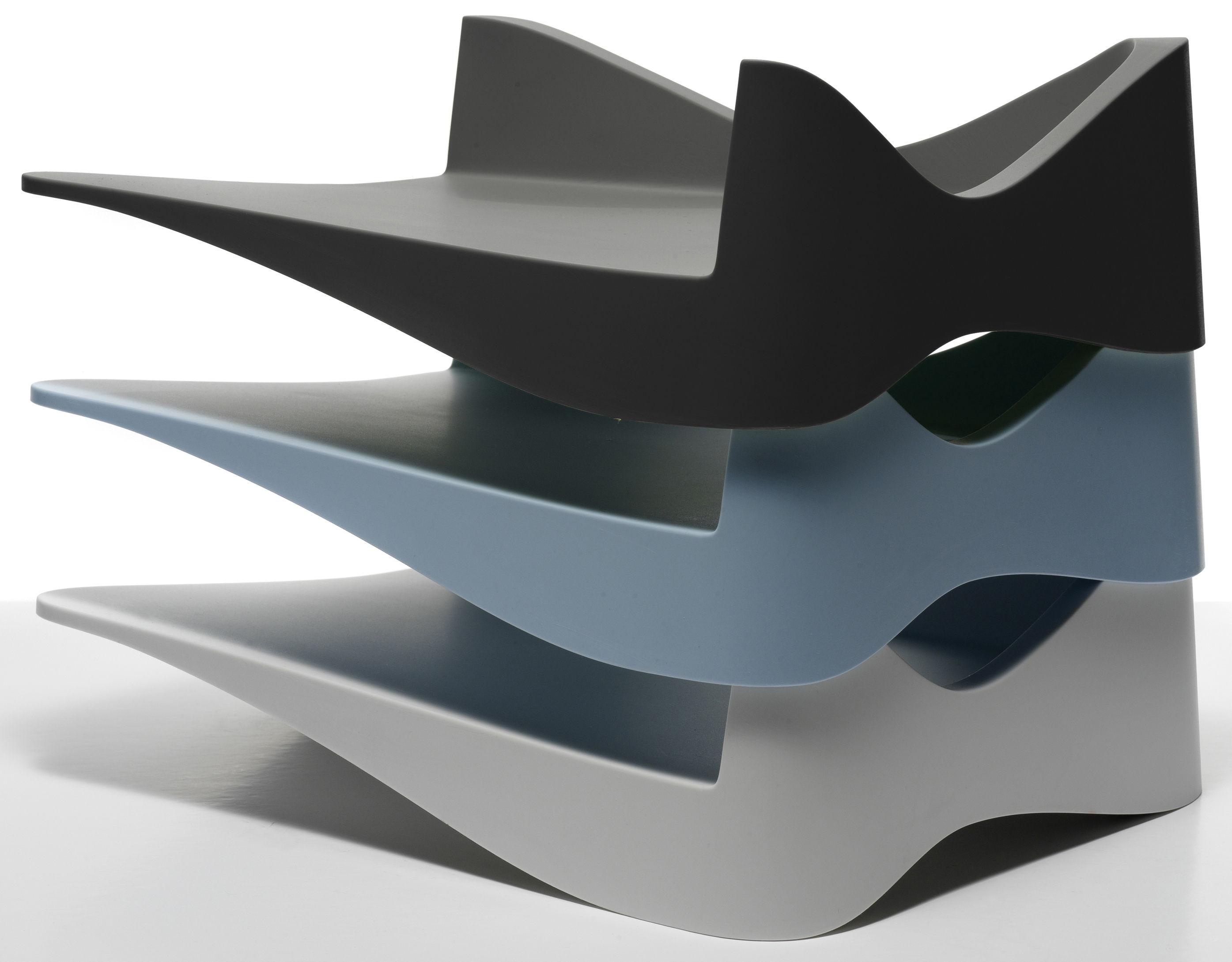 corbeille courrier parq noir alessi. Black Bedroom Furniture Sets. Home Design Ideas