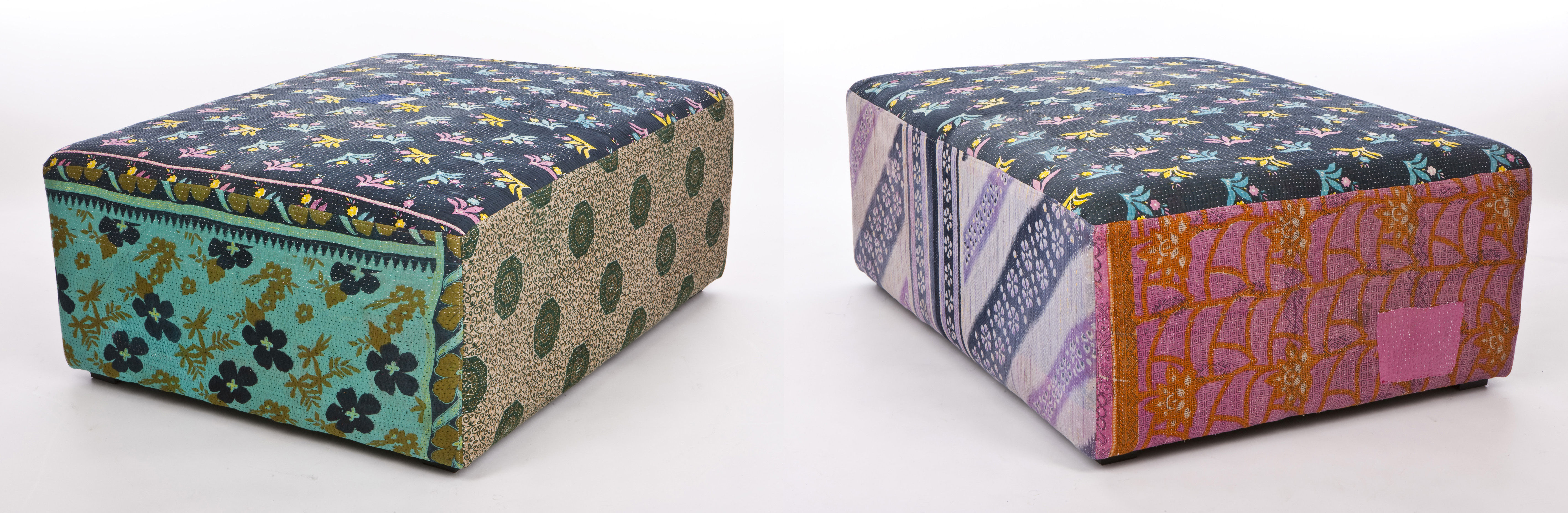 Antique Quilt Pouf Multicoloured By Hay