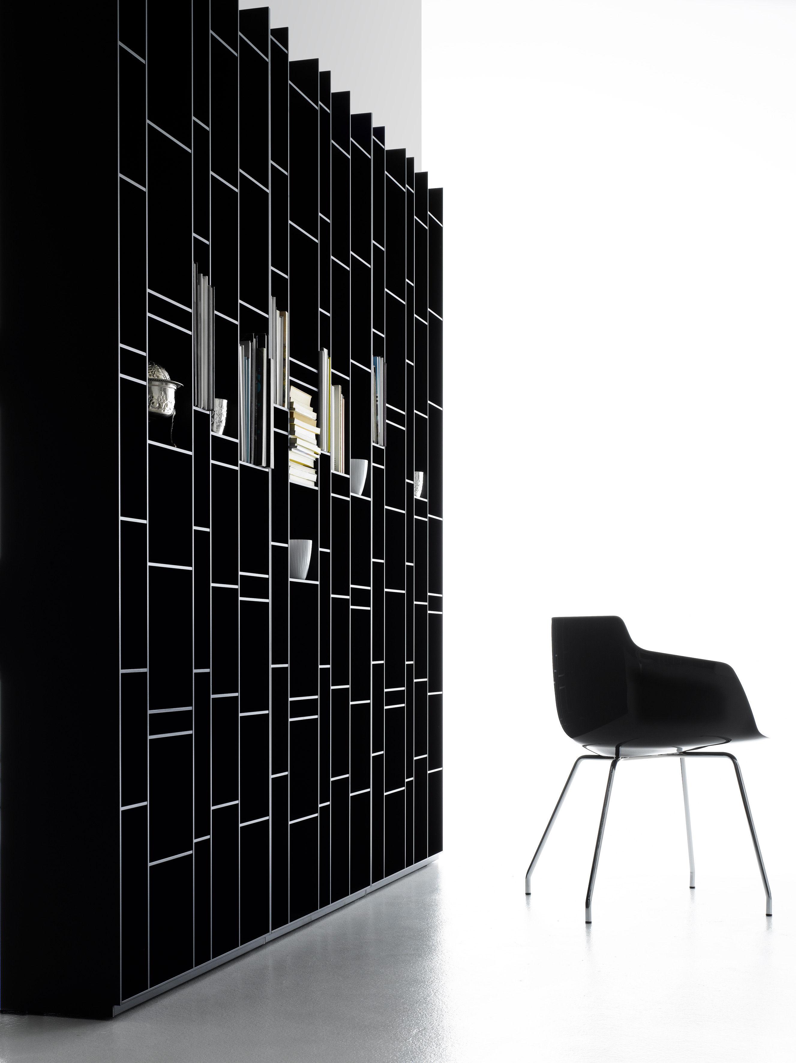 random bookcase black by mdf italia. Black Bedroom Furniture Sets. Home Design Ideas