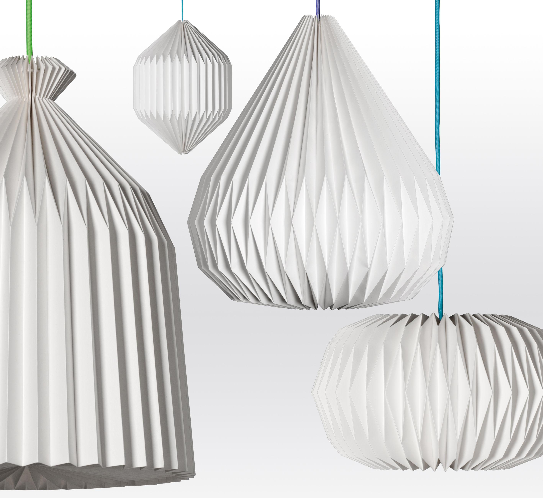 suspension paper closed bell 36 5 x h 47 cm blanc. Black Bedroom Furniture Sets. Home Design Ideas