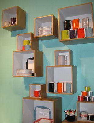 Babushka Set aus 11 modularen und ineinanderpassenden Regalboxen ...
