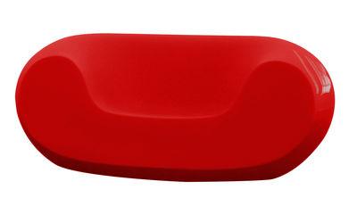 Foto Poltrona bassa Chubby - versione laccata di Slide - Laccato rosso - Materiale plastico