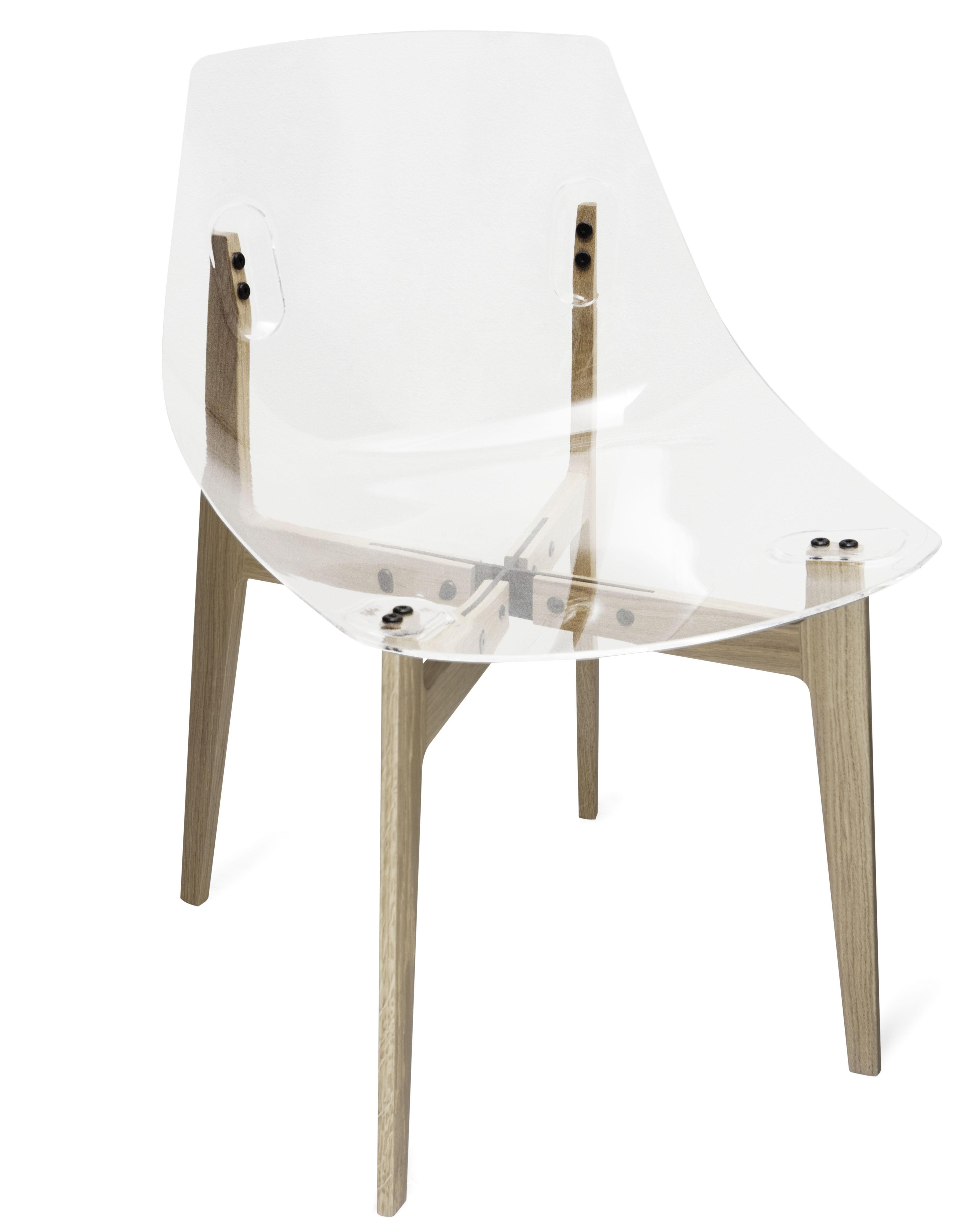 Chaise aka transparente cristal skitsch for Chaise pvc transparente