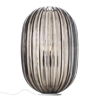 Foto Lampada da tavolo Plass - / Ø 34 x H 51 cm di Foscarini - Grigio - Materiale plastico