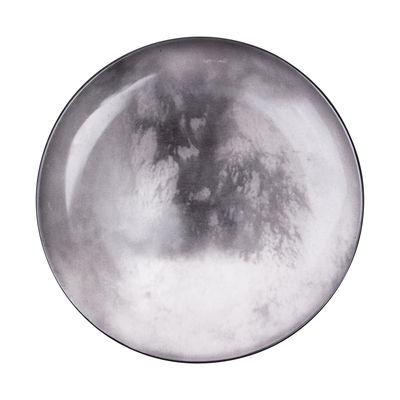 Foto Piatto Cosmic Diner - Titano / Ø 26 cm di Diesel living with Seletti - Grigio,Nero - Ceramica
