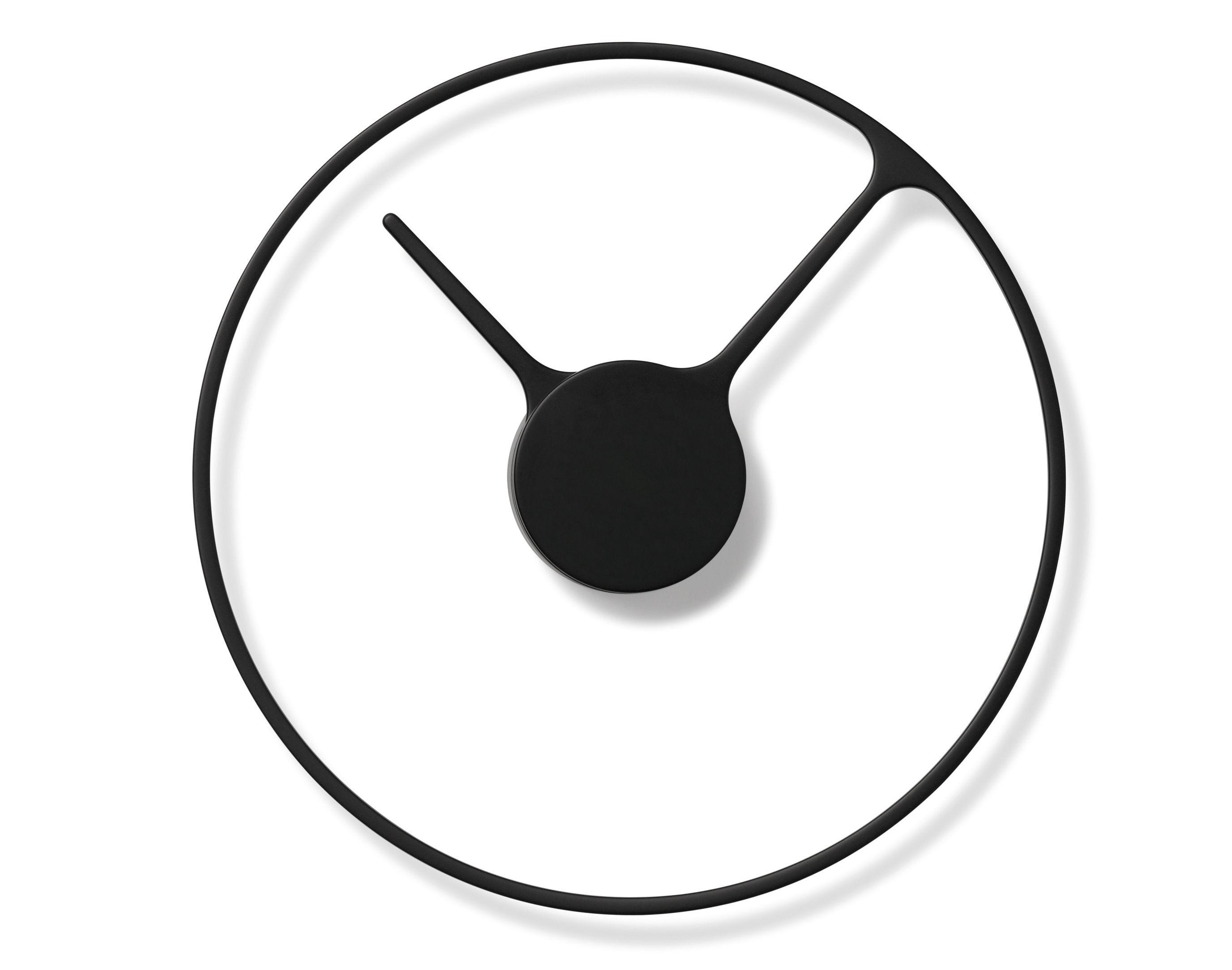 Horloge murale stelton time large 30 cm noir stelton - Horloge murale contemporaine ...