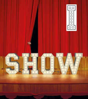 Foto Lampada da pavimento Vegaz - /Alfabeto luminoso Lettera I - H 60 cm di Seletti - Bianco - Metallo