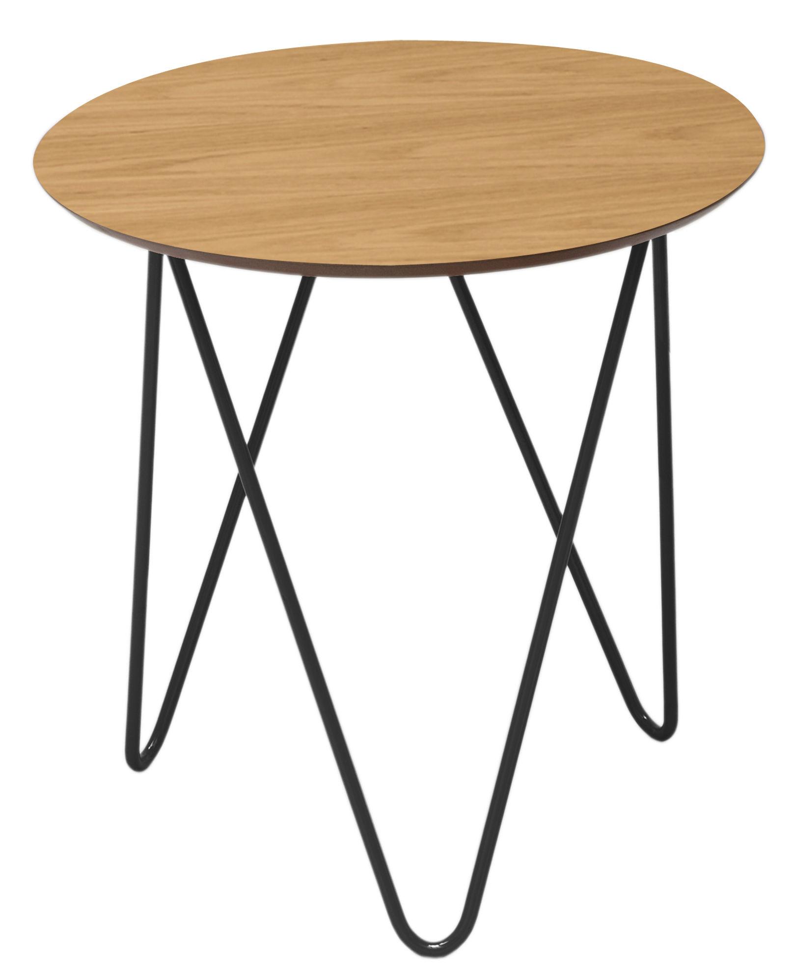bergerac coffee table oak black frame by sentou edition