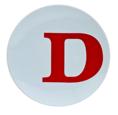 Typo Collection Dinner plate - Letter D
