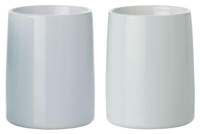 Tasse emma isotherme set de 2 gris clair bleu clair - Semaine du mobilier chez made in design jusqua ...