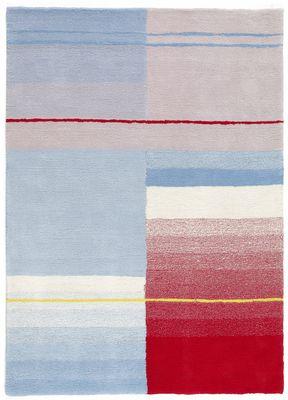 Foto Tappeto Colour / 170 x 240 cm - Hay - Rosso,Crema,Azzurro - Tessuto