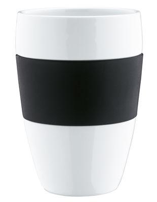 Image du produit Tasse Aroma en porcelaine /Ø 8 x H 13 cm - Koziol Noir en Matière plastique