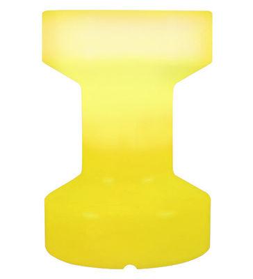 Foto Sgabello luminoso - luminoso/Senza fili ricaricabile - H 55 cm di Bloom! - Giallo - Materiale plastico