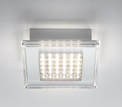 Foto Applique Quadriled - LED / Plafoniera - 16 x 16 cm di Fabbian - Trasparente - Materiale plastico