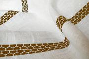Tovaglia Lugo - / 180 x 140 cm - tessuto di Internoitaliano - Ruggine - Tessuto