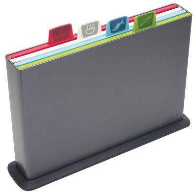 Index chopping boards / Set of 4 with storage case Charcoal grey