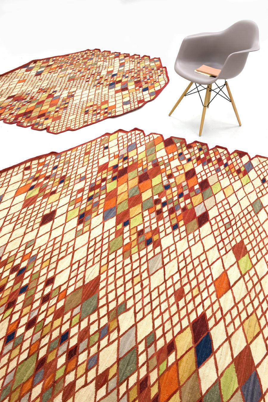 tapis losanges 165 x 245 cm multicolore nanimarquina. Black Bedroom Furniture Sets. Home Design Ideas